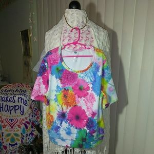 Justice Big Girls Colorful Floral Blouse